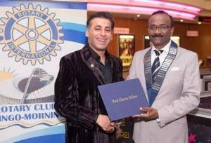 The Rotary Club – Morningside, Durban, has awarded our very own, AB Moosa with the prestigious Paul Harris Fellow Recognition award.