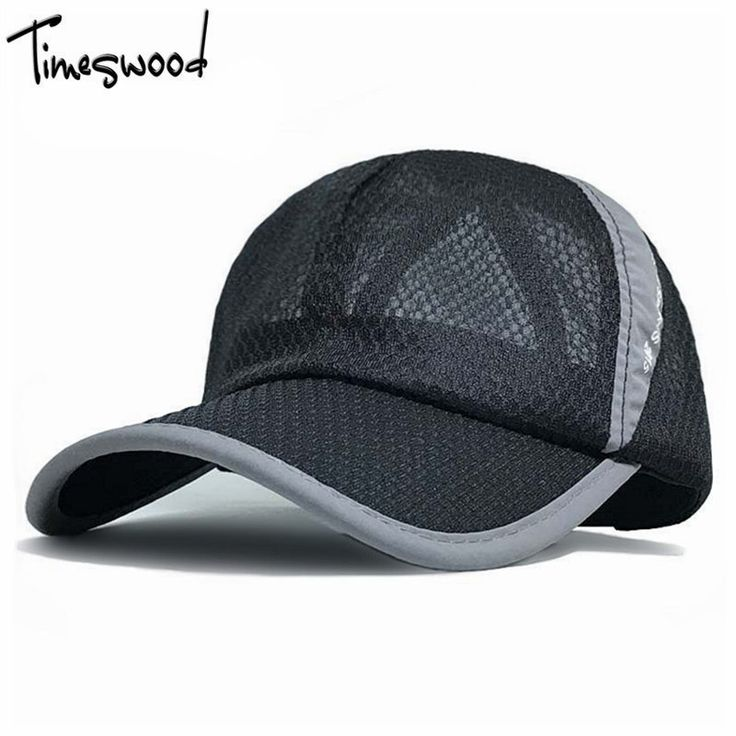 [TIMESWOOD] 10 Colors New Brand Unisex Net Baseball Caps With Mesh Summer Breathable Hats Beach Women Men Cap Plain Black Pink #Affiliate