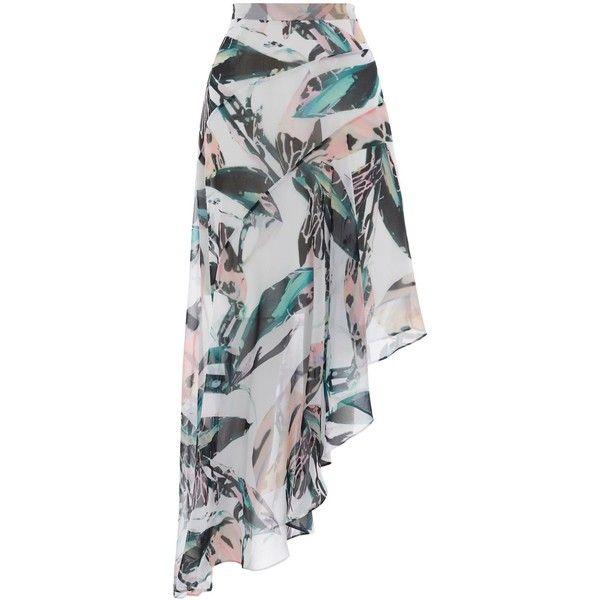 Coast Butani Asymetric Printed Skirt ($98) ❤ liked on Polyvore featuring skirts, women skirts, full skirts, coast skirts and asymmetrical skirt