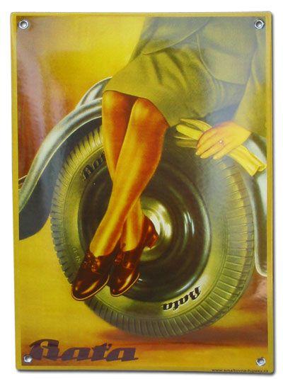 Vintage Ad: Bata tires and shoes (Czech Republic, undated) #batashoes #bata120yearsadvertising