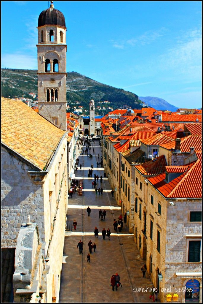Croatia: Dubrovnik's old town, my favorite walled city in the world.