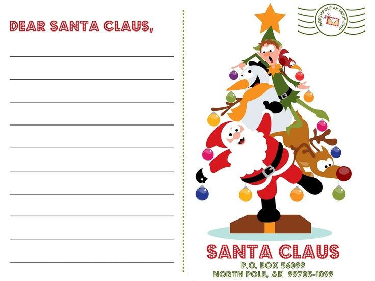 25 best ideas about Letter to santa – Santa List Template
