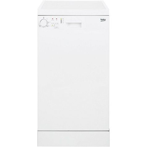 Buy Beko DFS05010W Freestanding Slimline Dishwasher, White Online at johnlewis.com £179.99