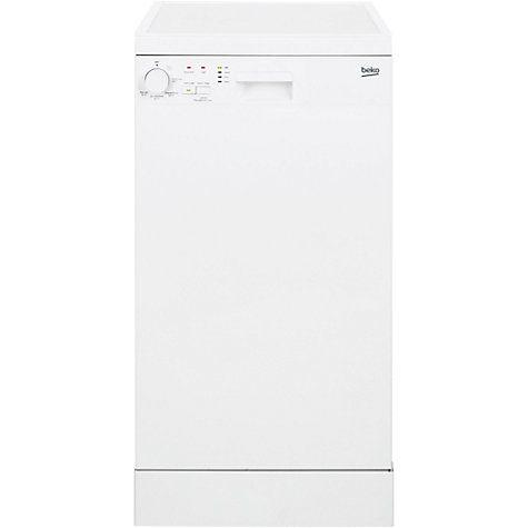 Buy Beko DFS05010W Freestanding Slimline Dishwasher, White Online at johnlewis.com £179.99