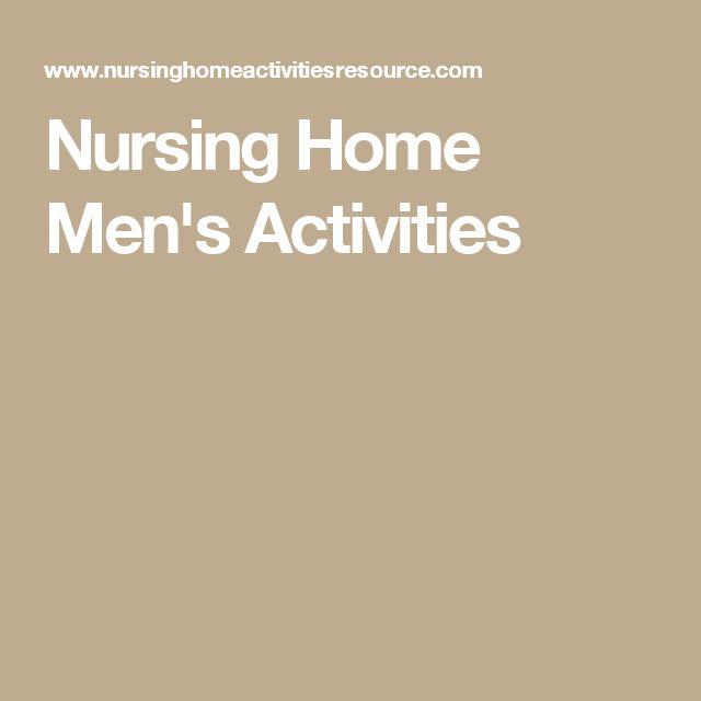 Nursing Home Men's Activities                                                                                                                                                                                 More