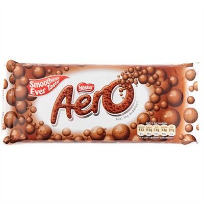 Great for the older ones who can't really chew well. These kind of melt in your mouth! Aero Chocolate Bar.