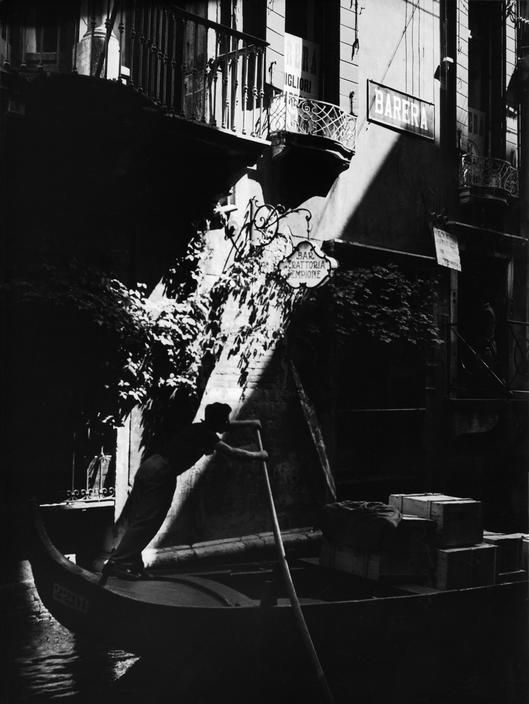 Gondolier in Venice, Italy   1933