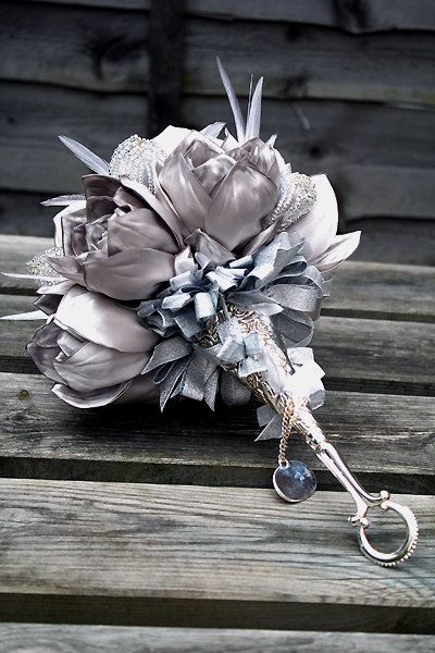 Made to order  Bridal bouquet CINDY  by hairbowswonderworld, $435.00