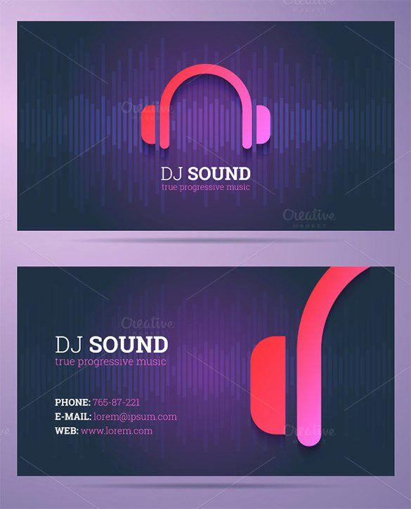 Music Business Card Template Awesome 18 Dj Business Cards Free Psd Eps Ai Indesign Word Dj Business Cards Free Business Card Templates Visiting Cards