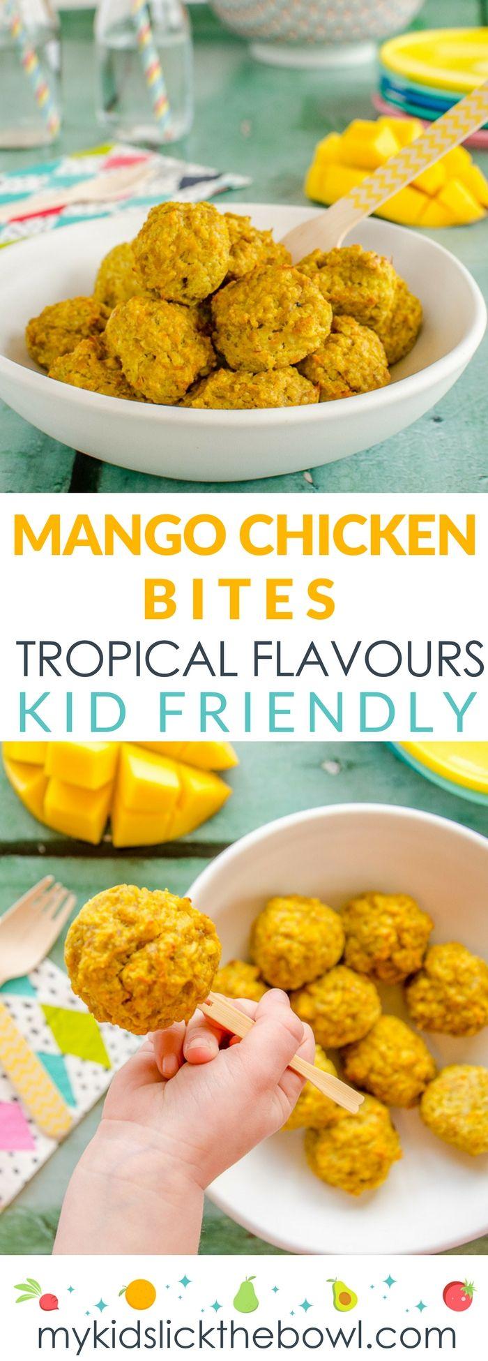 Mango Chicken Bites - My Kids Lick The Bowl