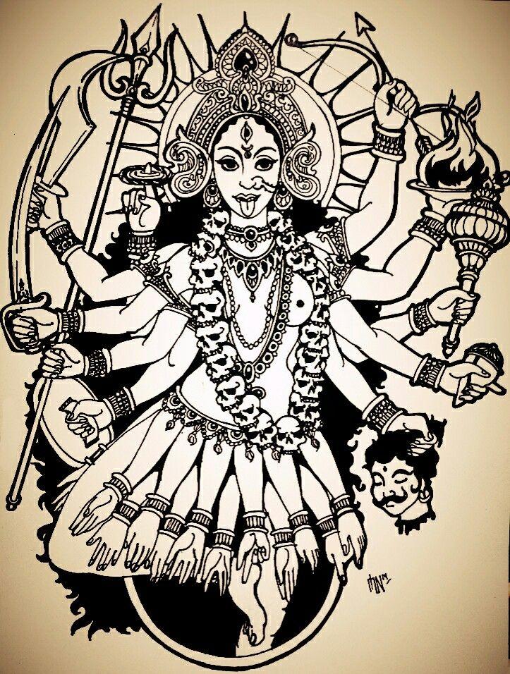 kali india goddess my doodles and sketches pinterest composition i am and goddesses. Black Bedroom Furniture Sets. Home Design Ideas