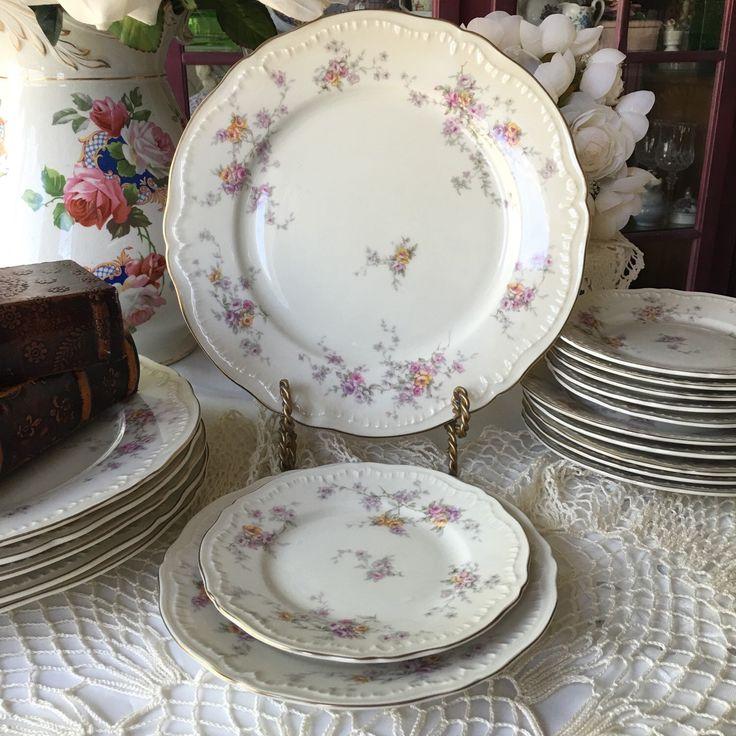 Theodore Haviland New York Helene Pattern Service for 6 Set of 18 plates Wedding China & 42 best Vintage China Sets Shabby Chic images on Pinterest ...