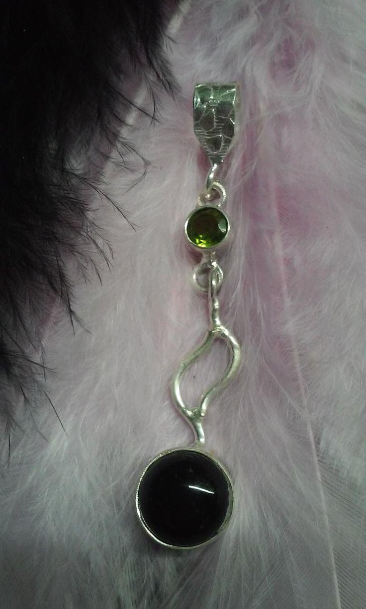 Olivia, onyx silver medal by Zsuzsanka on Etsy