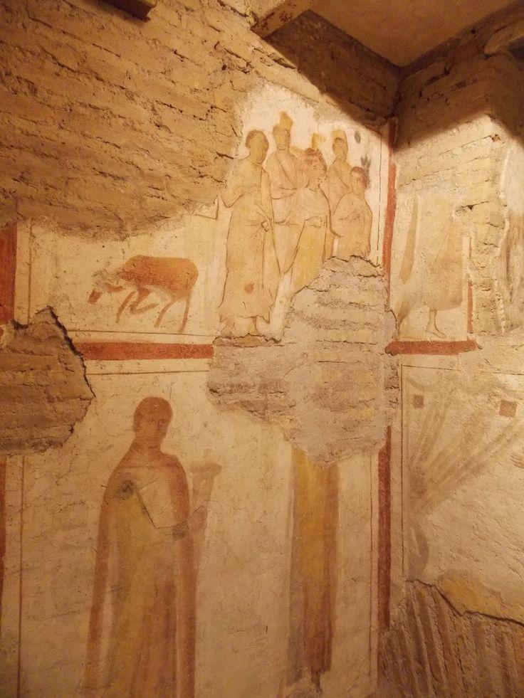 Casa romana del Celio. Basilica dei Santi Giovanni e Paolo, Roma. Gli affreschi del IV secolo