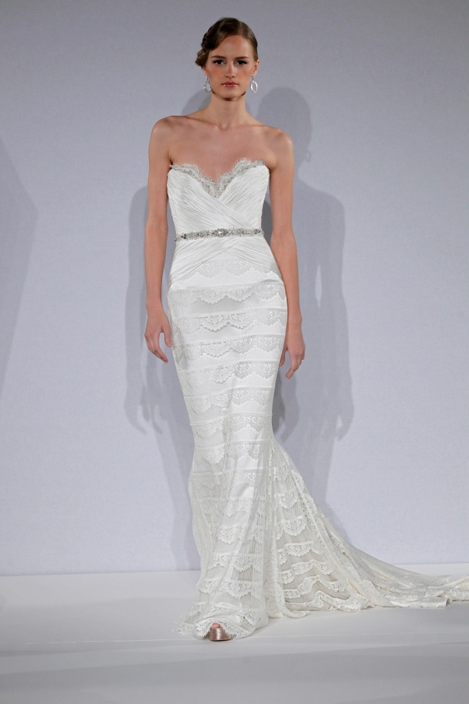Vintage Wedding Dresses Kleinfelds : Bridal gowns mark zunino sheath wedding dress with sweetheart