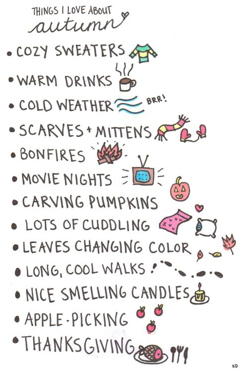 Things I love about #Autumn #Fall