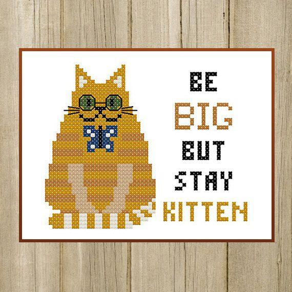 PDF. Big Red Cat. Be big but stay kitten. Cross by SecretFriends