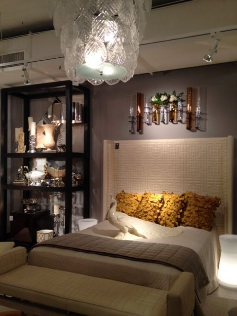 Thought this tall headboard at global views was very chic for Very headboards