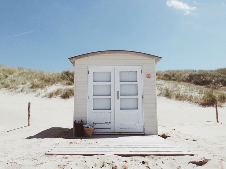 Beach house on the island Texel, the Netherlands.