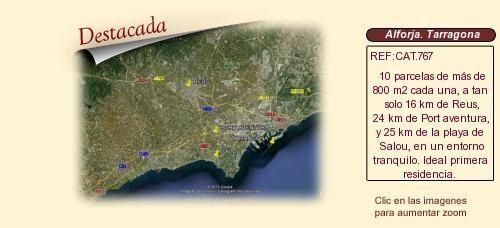 CAT767 Alforja. Tarragona.  Urbanización Les Barqueres.  Parcelas en venta.