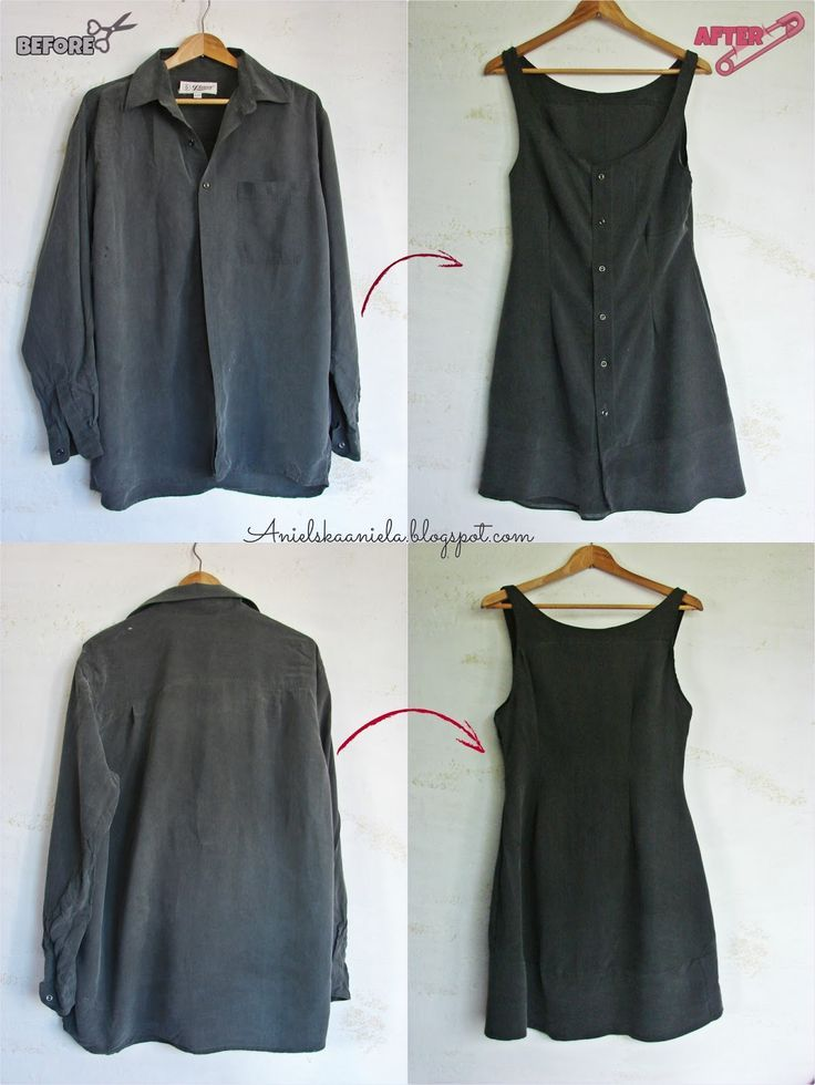 dc167fd83b Diy tutorial   Men s Shirt into a Dress   Sukienka z męskiej koszuli    przeróbka koszuli