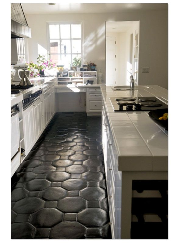 40 best images about saltillo tile on pinterest walkways for Dark tile kitchen floor