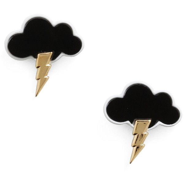 black rain cloud earrings