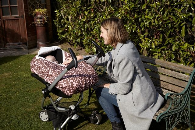 The Cosy Car Seat Cover out and about on the travel system  http://www.rubyandginger.co.uk/full-range/the-original-cosy-car-seat-cover
