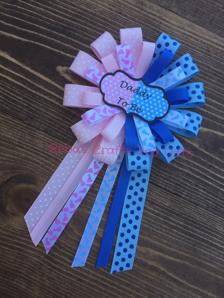 Gender Reveal - Twins - Corsage - Pink or Blue - Daddy To Be by RebasCraftsAndGifts on Etsy https://www.etsy.com/listing/468243091/gender-reveal-twins-corsage-pink-or-blue