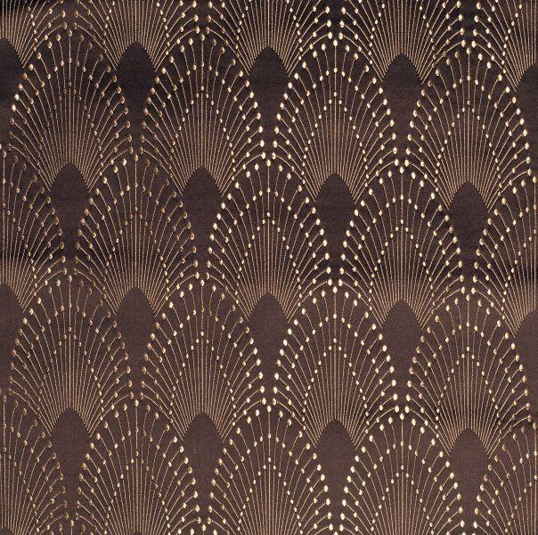 Part of the graphics interior design trend, Rivoli fabric in Chocolate by MOKUM | www.cdgdesign.com
