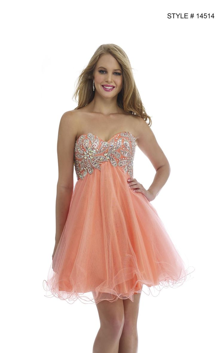17 best ideas about Peach Homecoming Dresses on Pinterest | Grad ...