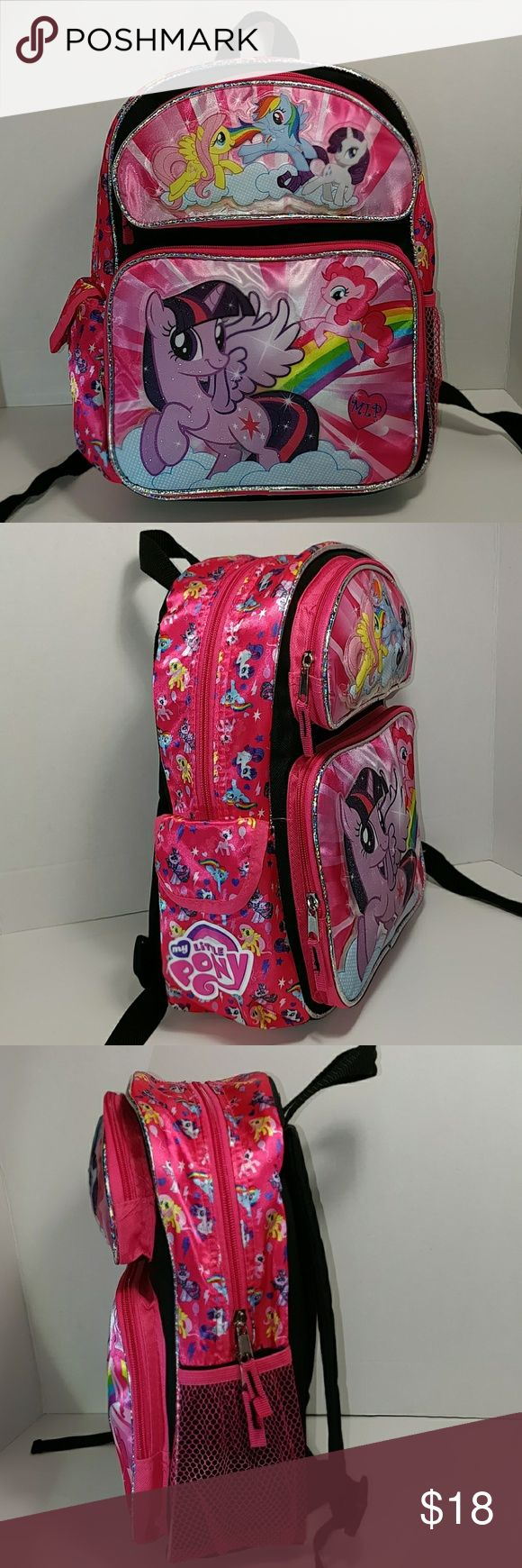 My Little Pony Backpack 5 ponies in the front.  Brand New!!!  The size is perfect for a preschooler. Makes a perfect day pack for travel. My Little Pony Other