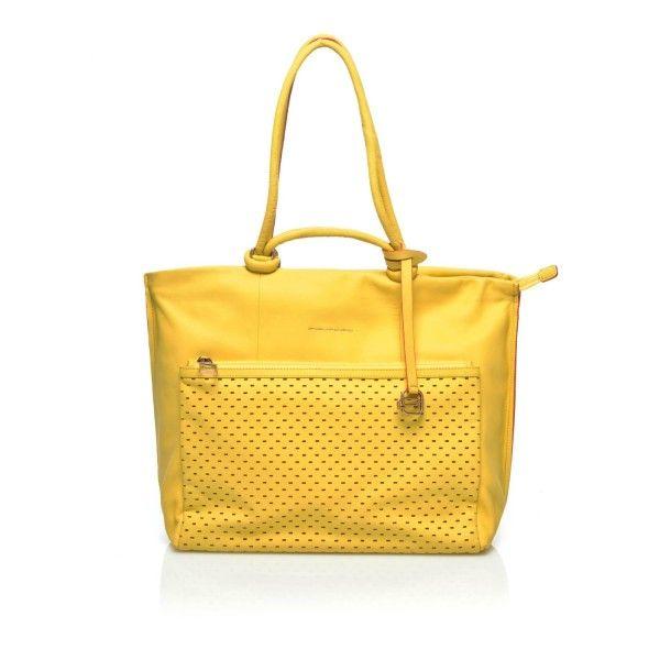Piquadro borsa donna , Collezione Ipazia gialla