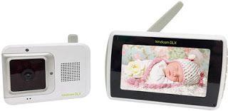 Babá Eletrônica Digital Kindcam DLX com termómetro digital.