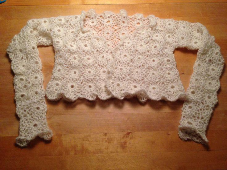 Hæklet trøje til bruden Maria☺️