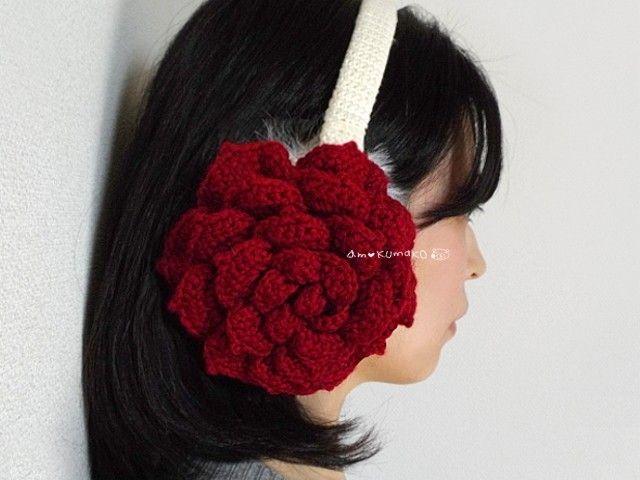 薔薇のイヤーマフ - am-KUmaKO