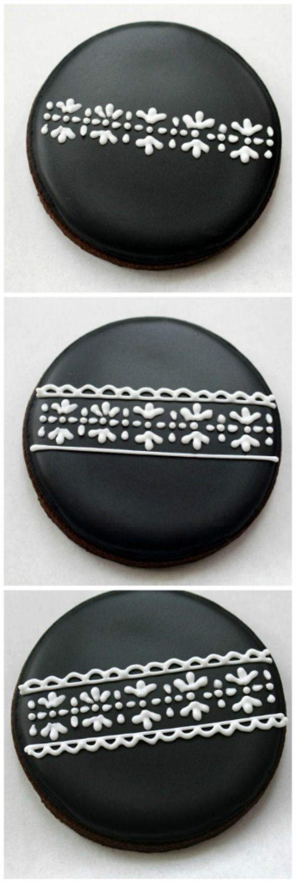 piping lace on cookies 3