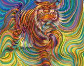 Tiger Totem Metaphysical Painting