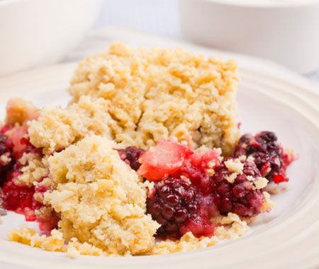 Nectarine & Berry Crumble Recipe | My sweets | Pinterest