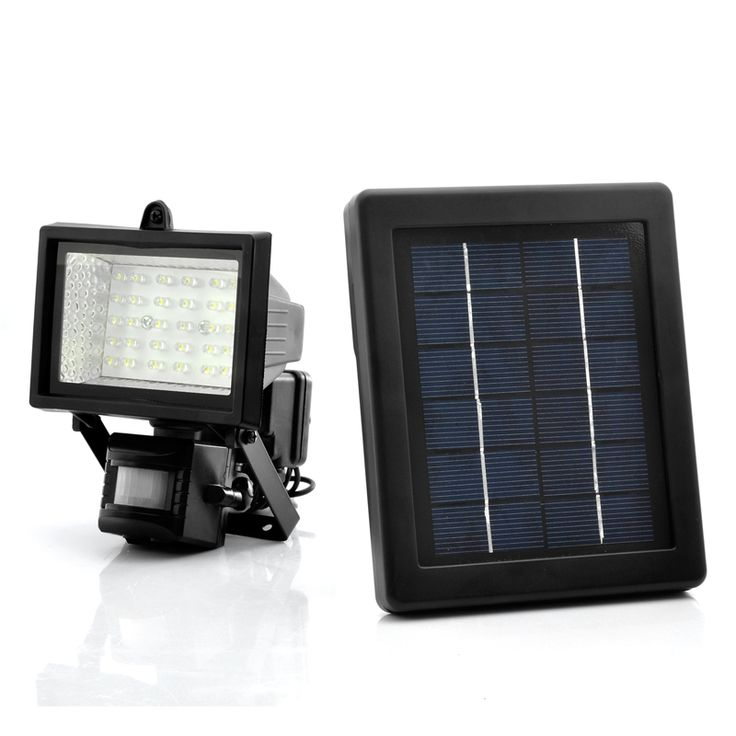 Solar Powered Flood Light with 30 bright LEDs and PIR motion detection offers enhanced home protection and peace of mind Powered by the sun this