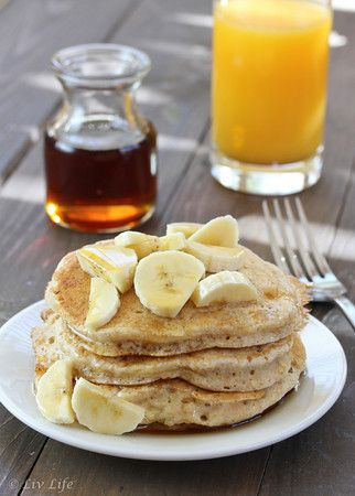 Heart-Healthy Fluffy Vegan Pancakes by livlifetoo #Pancakes #Vegan #Healthy