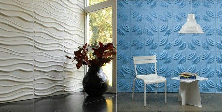 Sobriedad y estilo, paredes 3D