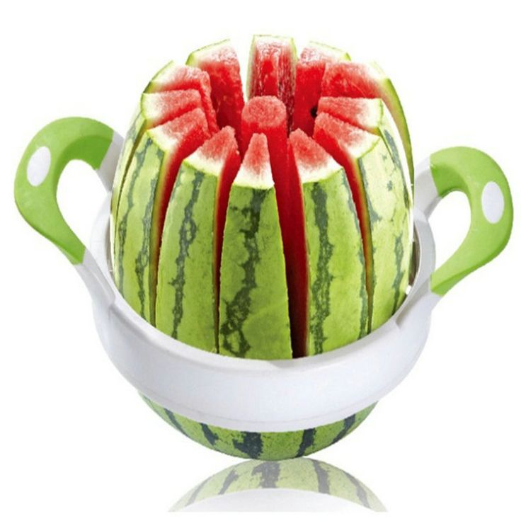 38cm large Size Stainless Steel Watermelon Cutter Cantaloupe Fruit Slicer Kitchen Accessories