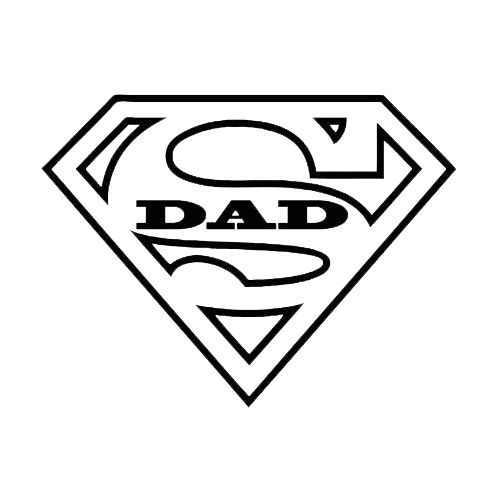 Super Dad Die Cut Vinyl Decal PV772