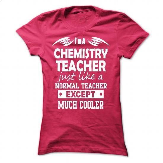 chemistry teacher - #blank t shirts #wholesale sweatshirts. BUY NOW => https://www.sunfrog.com/Geek-Tech/chemistry-teacher-HotPink-43179133-Ladies.html?60505