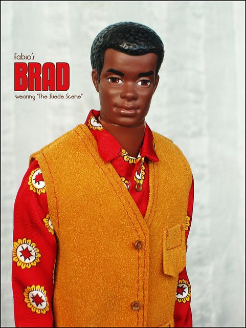 Brad from the seventies.  Brad (1970-1972) is Christie's boyfriend and Curtis (1975) is Cara's boyfriend, who are both part of Barbie dolls family and friends.  Both black dolls are the same size as the beefier Ken doll and share his wardrobe.
