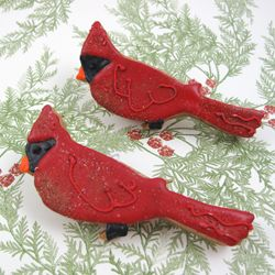 Christmas - View All - Red Cardinal Cookie Cutter, Tin