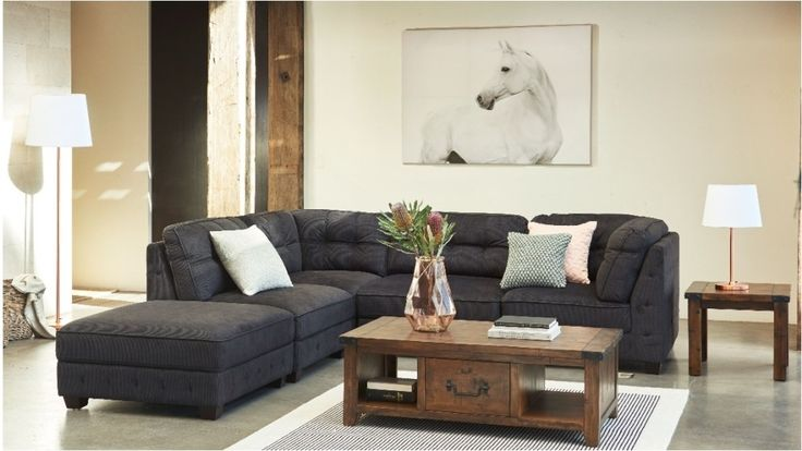 Frankie 5 Piece Fabric Modular Lounge Suite - Lounges - Living Room - Furniture, Outdoor & BBQs   Harvey Norman Australia