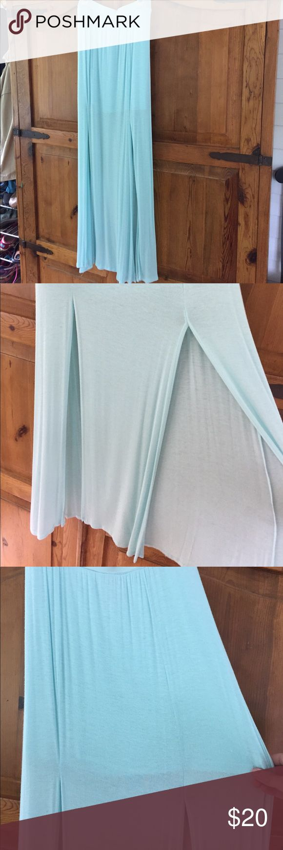 Maxi skirt Super soft, double slit mint maxi skirt Hollister Skirts Maxi