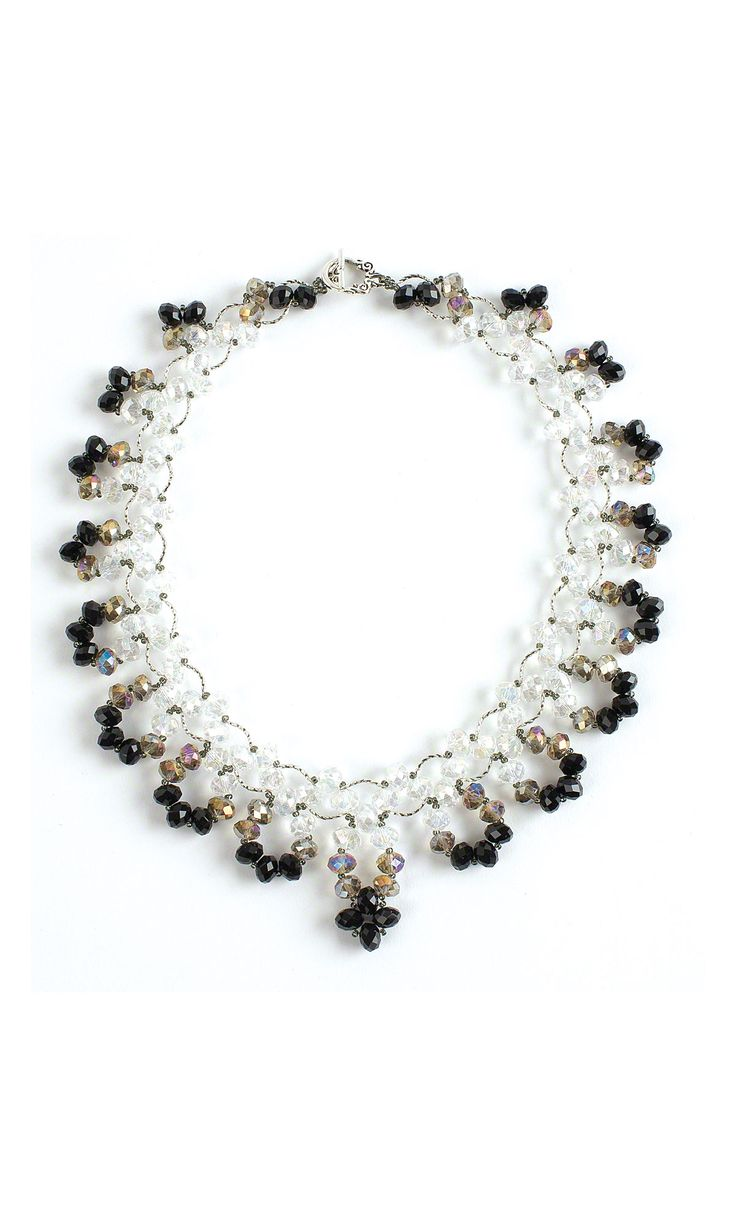 Jewelry Design - Single-Strand Necklace with Swarovski Crystal Beads, Metal Links and Seed Beads - Fire Mountain Gems and Beads